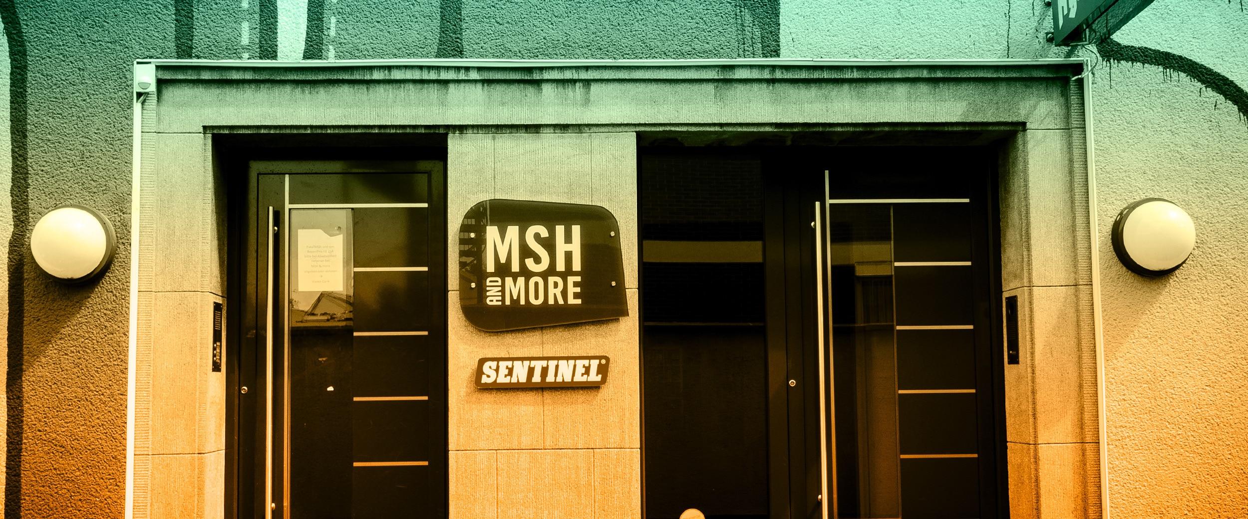 Bild des MSH-Eingangs am Standort Köln-Ehrenfeld.