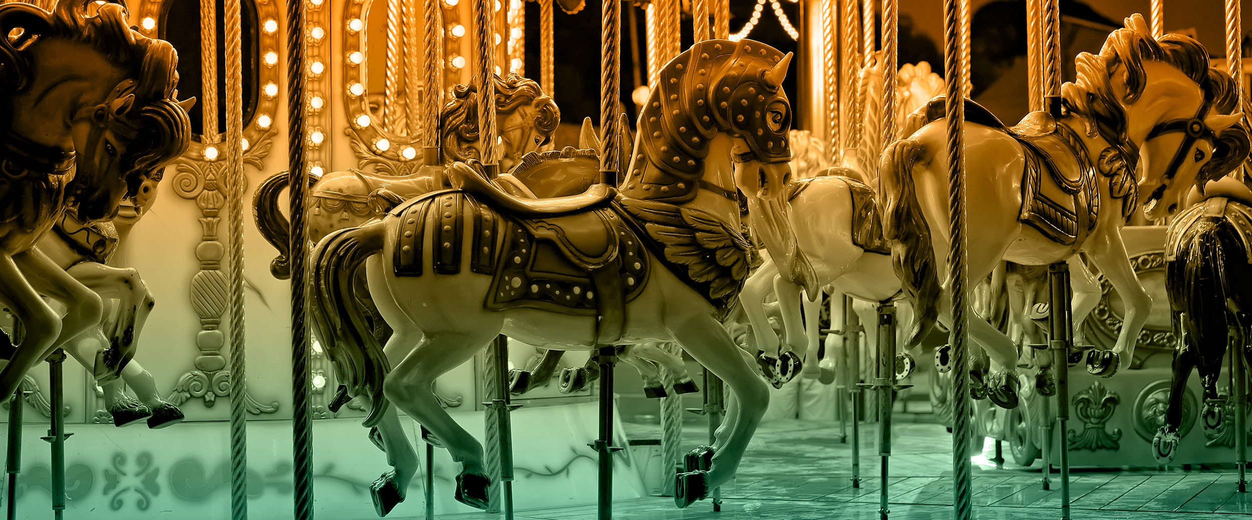 Aufnahme eines Karussel-Pferdchens